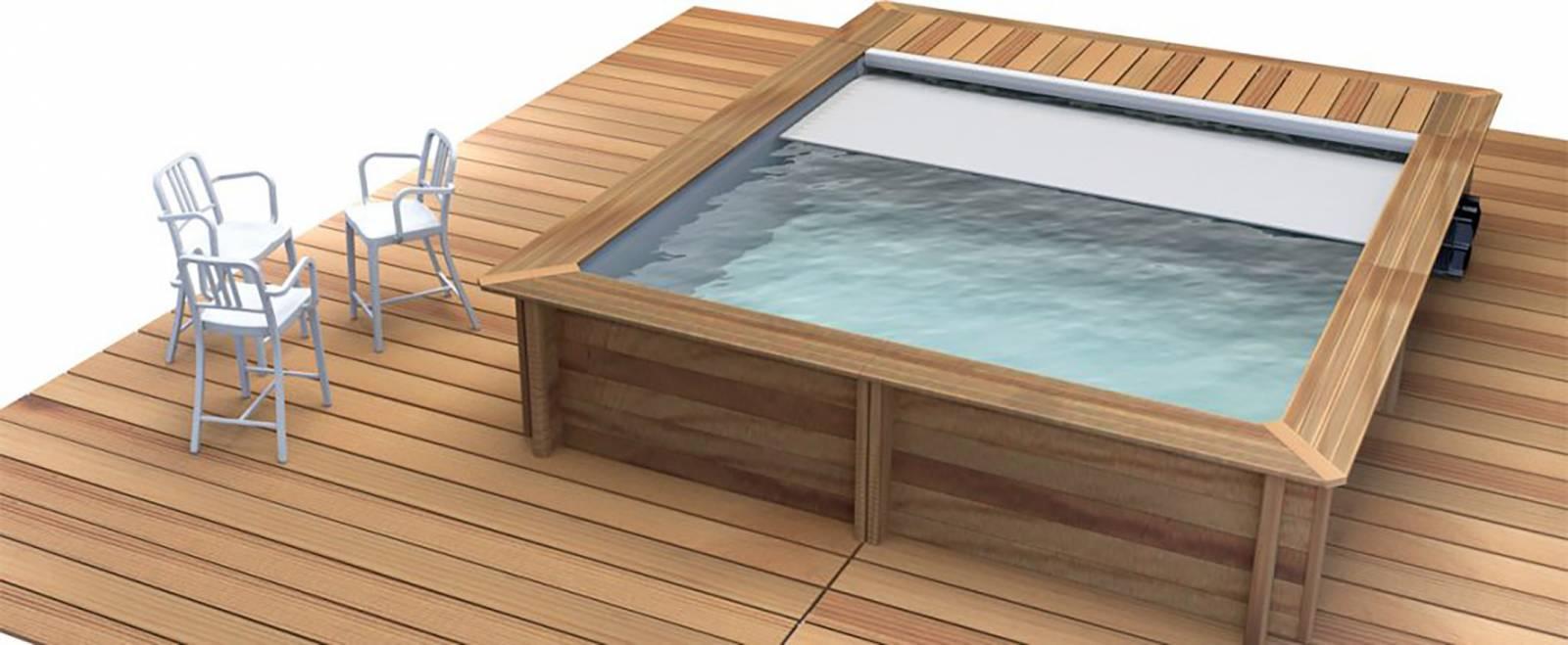 Tarif d 39 une piscine bois semi enterr e carr e monter soi m me sur lyon avec livraison piscine - Piscine bois octogonale lyon ...