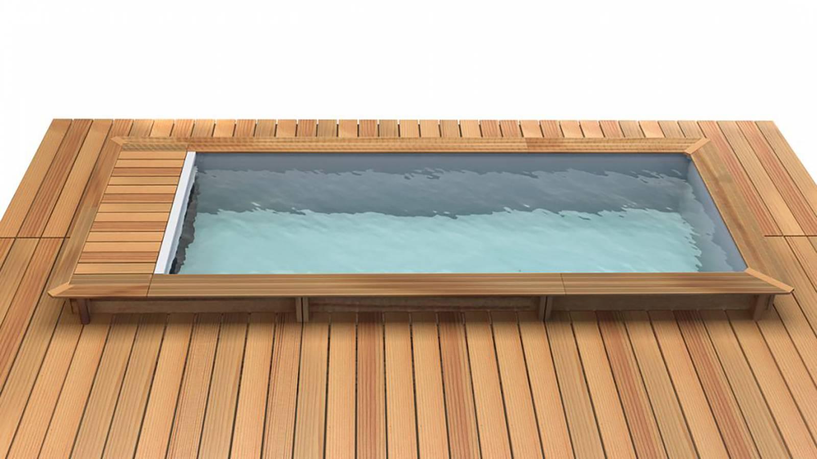 Modèle piscine bois rectangulaire avec livré sur Marseille 13