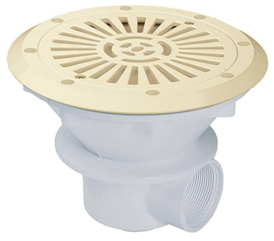Bonde de fond beige en abs pour b ton ou liner piscine en for Ou acheter liner piscine