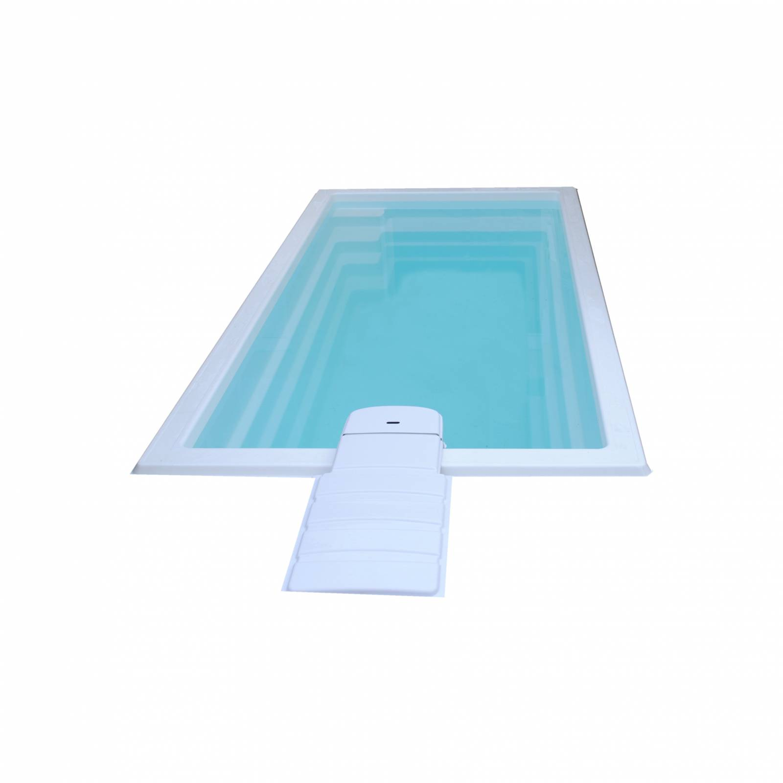 mini piscine coque polyester de moins de 10m2 avec bloc. Black Bedroom Furniture Sets. Home Design Ideas