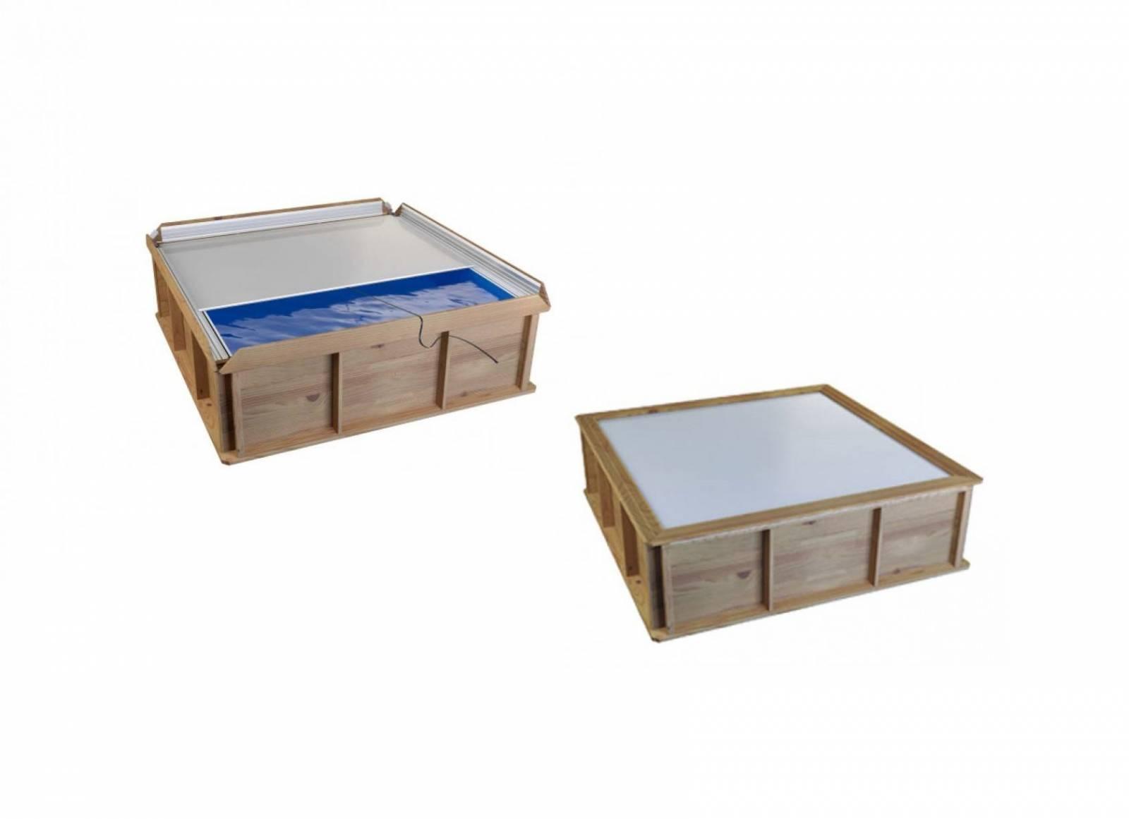 Piscine Hors Sol Bois Petite Dimension petite piscine hors sol bois carrée 2x2 pour enfants piscine