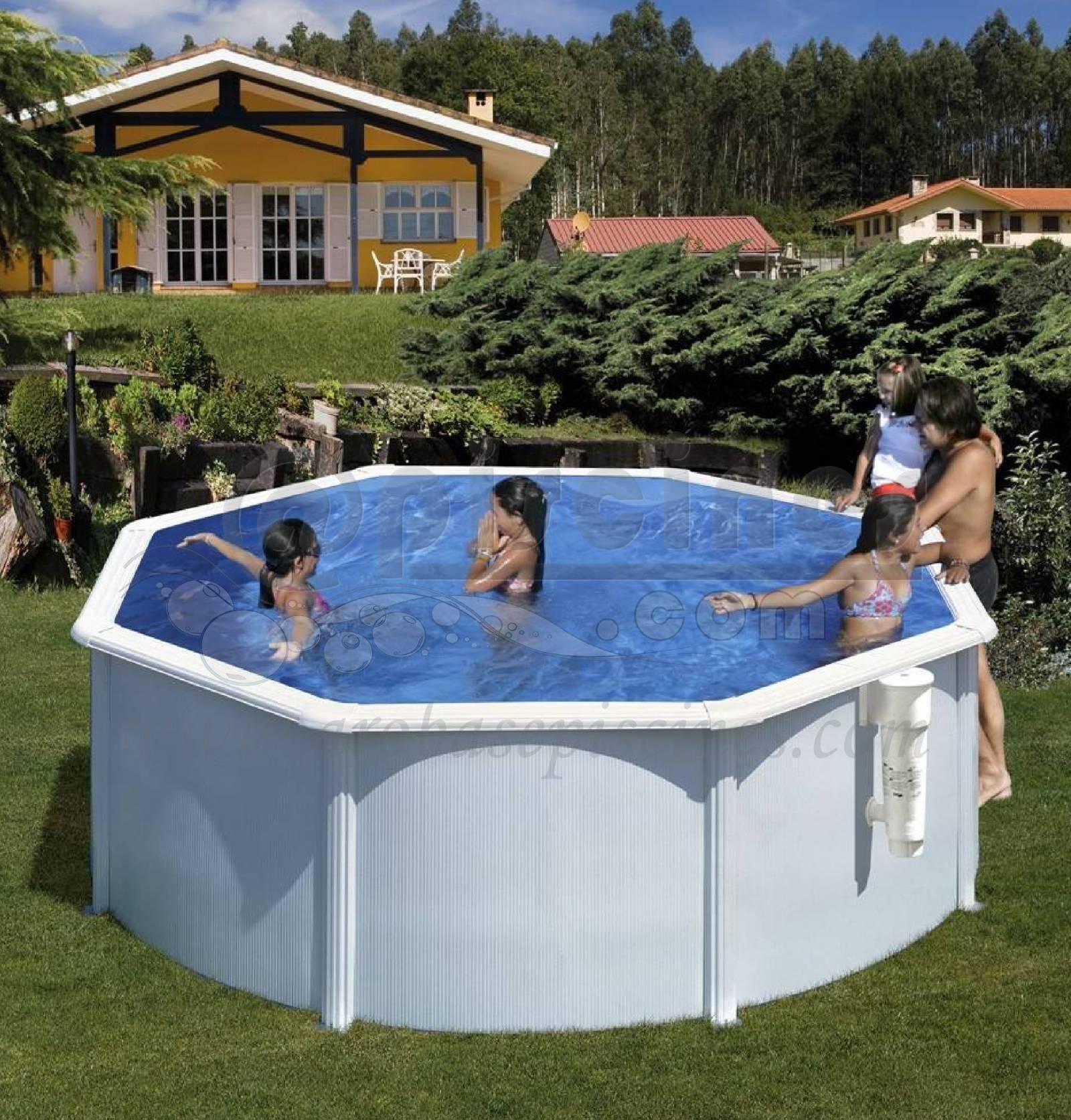 Piscine en kit hors sol ronde en acier 10,10m de diamÉtre piscine