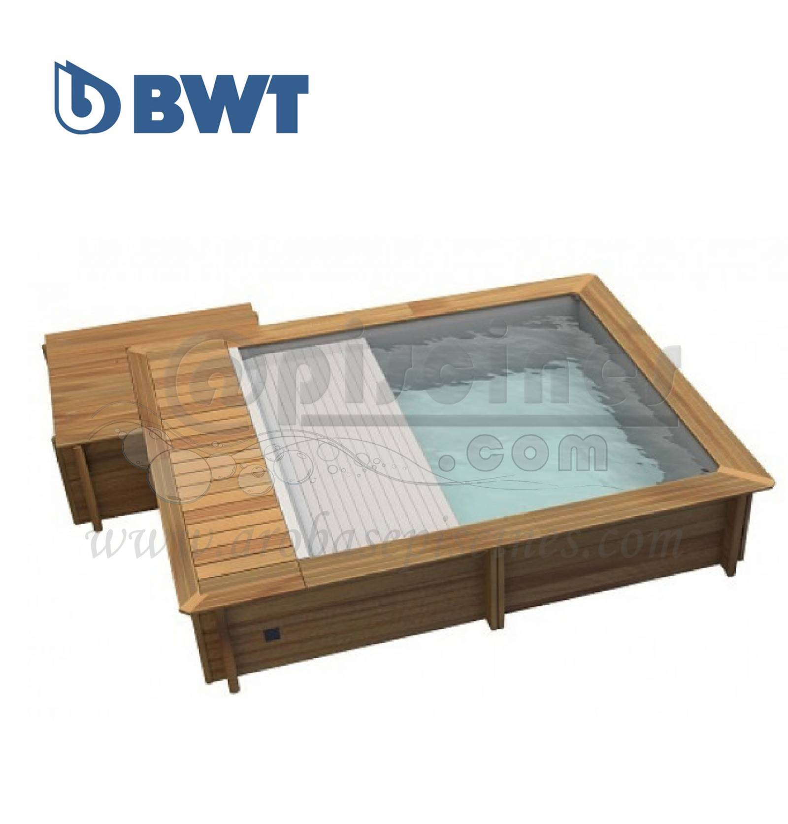 piscine hors sol bois urbaine carr moins de 10m2 piscine en ligne arobase piscines. Black Bedroom Furniture Sets. Home Design Ideas
