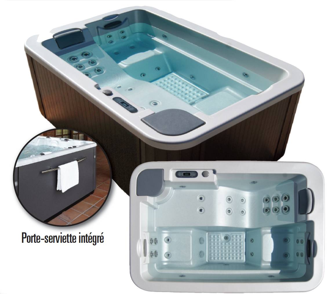 Spa portable pour 3 personnes astral pool mod le ocean 40 for Piscine portable