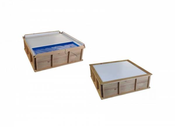 Petite piscine hors sol bois carr e 2x2 pour enfants piscine en ligne aroba - Piscine hors sol carree ...