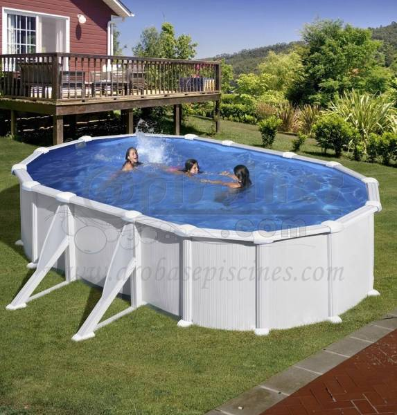 piscine en kit hors sol acier ovale 5m x 3m piscine en ligne arobase piscines. Black Bedroom Furniture Sets. Home Design Ideas