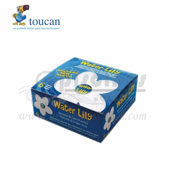 Boite de 6 wterlily pour piscine WATER LILY